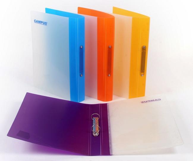 תיק טבעות שקוף,פלסתי גב 5 בצבעים שונים  Flic