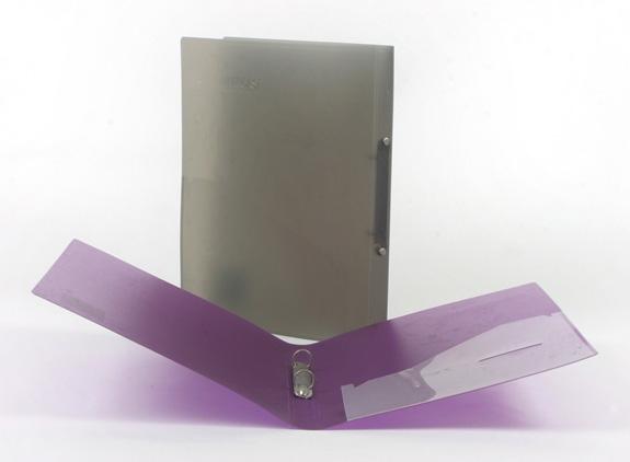 תיק טבעות שקוף,פלסתי גב 2.5 בצבעים שונים   A-4 Flic