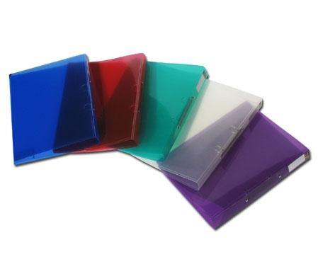 תיק טבעות שקוף,פלסתי גב 5 בצבעים שונים   A-5 Flic