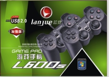 2 ג'ויסטיקים למחשב USB2 רותתים למשחקי מחשב  Lanjue L600s