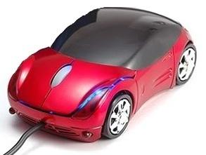 עכברים אופטיים  USB בצורה מכונית בצבעים שונים OEM