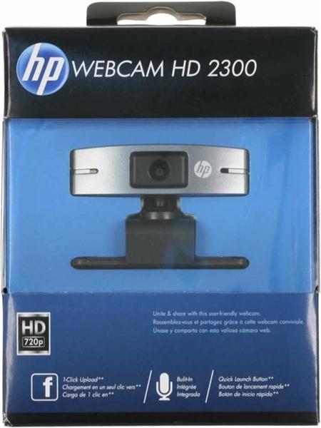 מצלמת אינטרנט עם מיקרופון ,קליפס , HP WEBCAM HD 2300 USB2