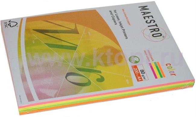 נייר למדפסת גר.80  A-4  למדפסת , 100 דף ,5 צבעים