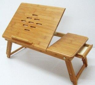 שולחן מתקפל מפואר למחשב נייד מעץ
