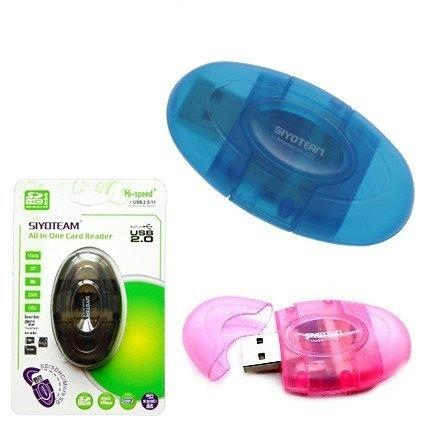 קורא כרטיסים SD עם פקק   USB 2