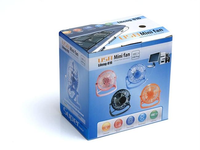 מאוורר שולחני  Lileng-816, שקט ,חיבור USB
