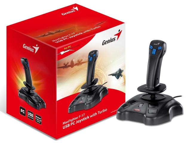 ג'ויסטיק סימולטור למחשב USB 2 Genius Genius MaxFighter F-17 Turbo