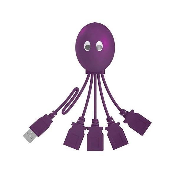 """מפצל USB 2.0 """" עם 4 כניסות """" תמנון"""