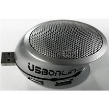 מפצל USB 2.0 ל4 כניסות ועם רמקול