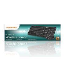 מקלדת+עכבר אלחוטי מולטימדיה עברית-אנגלית-רוסית 2.4 COMPOINT CP-KM007-W USB