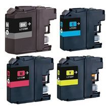 Brother LC123 Compatible Black & Colour Ink Cartridge 4 Pack