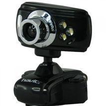 """מצלמת אינטרנט למחשב עם קליפס 1.3 מ""""פ + מיקרופון+תאורה לילה 6 לדים NO DRIVER  USB-2 HAVIT HV-V622"""