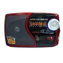 MEIER M-U72BT טרנזיסטור רדיו חשמל עם כניסת USB, כרטיס זכרון,MP3 ,בלוטוס וסוללה נטענת פנימית וסוללות רגילות
