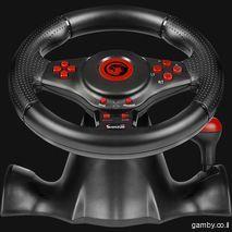 גלגל ההגה עם דוושות ותיבת הילוכים עבור Sony PS3, מחשב אישי ו- XBOX360  Marvo Skorpion HG8914
