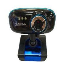 מצלמת אינטרנט HD צבע שחור + כחול עם מיקרופון SIGMA