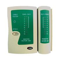מד כבלים רשת וכבלים טלפון RJ45  RJ11 VICTOR VC-NT-468