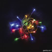 Garlands - running fire Multi-colored light runs with autonomous power (batteries) of 7 meters