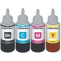סט בבקבוקי דיו תואמים של אפסון Epson T6641 / T6642 / T6643 / T6644