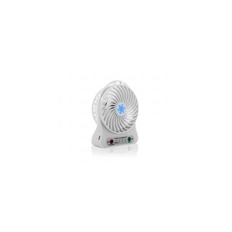 Powerful powered fan with LED flashlight