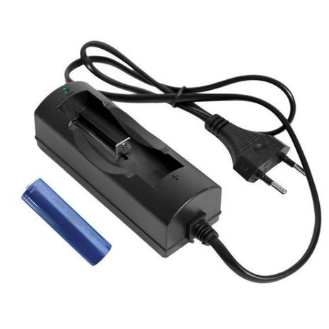 Акумулятор 18650 , 2200 mA  ( литиевый) + зарядное устройство для  батарей 18650/14500 OMEGA