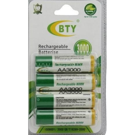 Rechargeable battery AA and Charger, 2900 mah, 1.2V