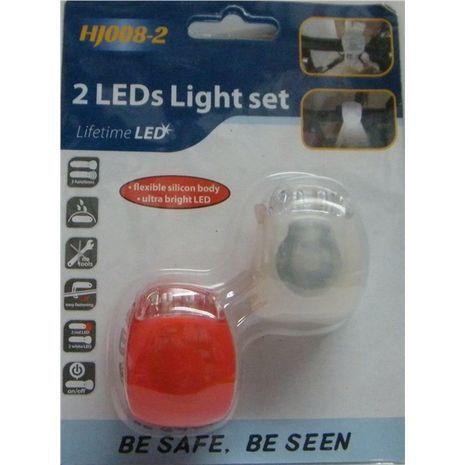 Фонарик для велосипеда (предний и задний) , очень яркие лампочки лед. HJ008-2