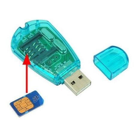 Card Reader  USB 2 SIM For Mobile