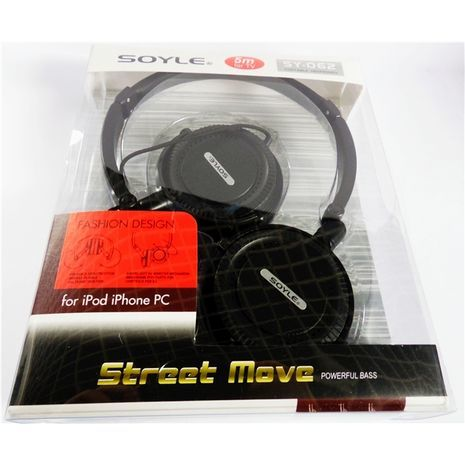 Stereo Earphone Soyle SY-062 for use TV MAC, MP3/4, iPOD,PC  5m cable