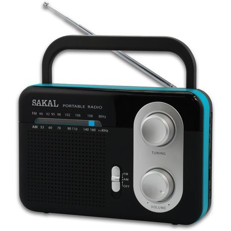 Транзисторный приемник, мощный, на электричестве и батарейках AM\FM SAKAL SKL-411