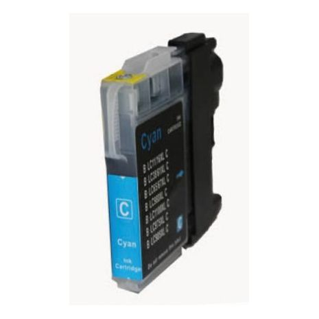 Brother LC980C / LC1100 Cyan compatible inkjet cartridge