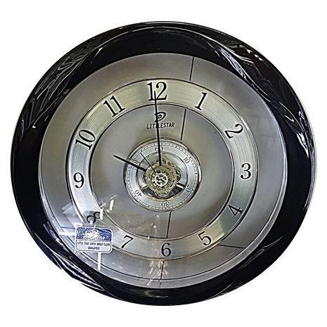 Большие  настенные круглые  часы в прозрачном корпусе