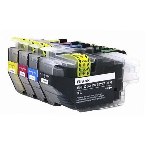 B-LC 3219 / 3217 XL CMYK  Set Compatible Inkjet Cartridge Brother