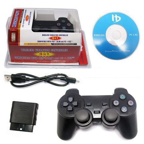 Wireless Console Controller For Sony Playstation 2/3 and PC  2.4Ghz USB2