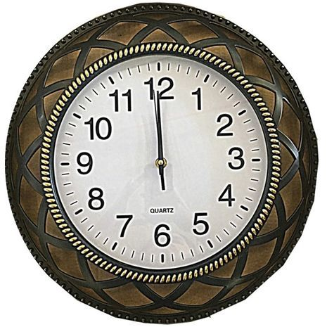 """שעון קיר מעוצב גדול . קוטר 39 ס""""מ"""