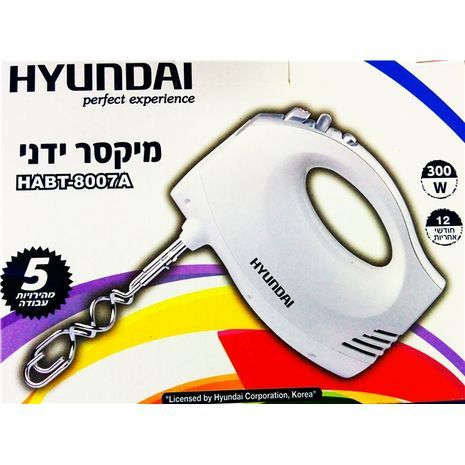 Миксер ручной. HYUNDAI HABT-8007A 300W