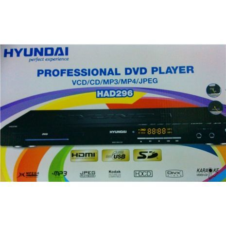 Professional and Karaoke DVD Player HYUNAI HAD296 HDTV. VCD/CD/MP3/MP4/JPEG/DIVX/HDCD/USB/HDMI