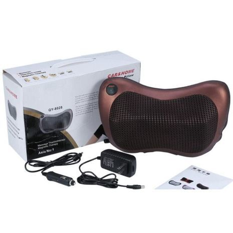 Massager for neck and shoulders - for home, office, car. Massage, thermotherapy, magnetic therapy Massage Pillow 8028 CAR & HOME