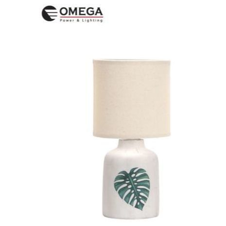 מנורת שולחן דקורטיבית - עלה OMEGA E-14 בצעים שונים