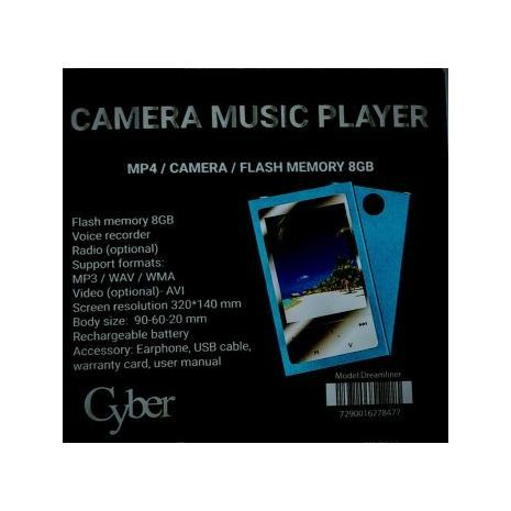 MP4  Multimedia Player 8Gb . Camera music Player . DREAMLINER CYBER