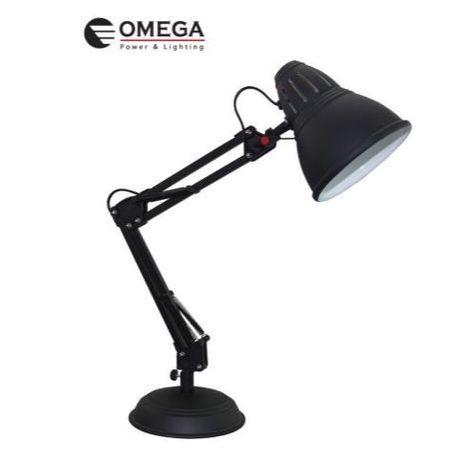מנורת שולחן OMEGA E-27 בצעים שונים (שחור,לבן,כסף) Flamingo