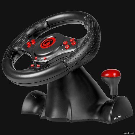 Руль  с педалями и коробкой передач для SONY PS3 , персонального компьютера и XBOX360 Marvo Skorpion HG8914