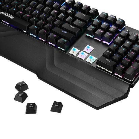 מקלדת מכנית זוהרת RGB  לגיימרים RGB KG925G MARVO - Scorpion GHOST USB