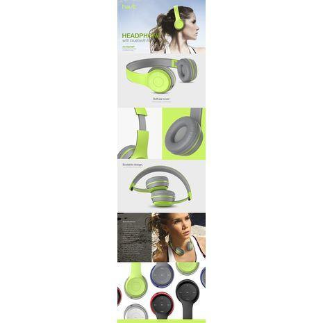 אוזניות אלחוטיות גדולת עם מיקרופון כרטיס SD , רדיו Bluetooth stereo HI-Fi SD HAVIT HV-H2575BT