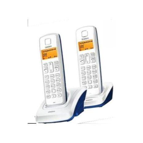 טלפון שולחני אלחוטי כפול ,חיוג חוזר,בקרת צילצול,סיחה מזוהה,דיבורית DECT 1360-2 CB UNIDENT