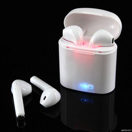 אוזניות סטריאו Bluetooth,  מיקרופון,  נטענות ,  בלוטוט אלחוטיות, עותק באיכות גבוהה של AirPods  עבור סמרטפונים  איפון 7,8,9,10 וכל סוג אנדרויד