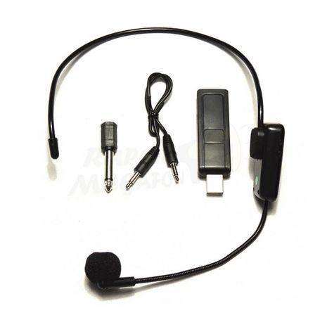 USB מיקרופון ראש מדונה אלחוטי למחשב, מגבר חגורה, רמקול ושידור Pro Audio