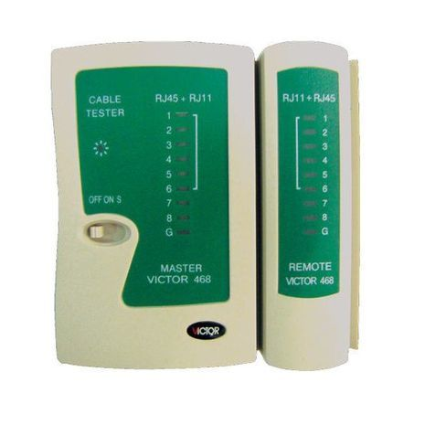 LAN Network Cable Tester - RJ45 and RJ11 Telephone Cable VICTOR VC-NT-468