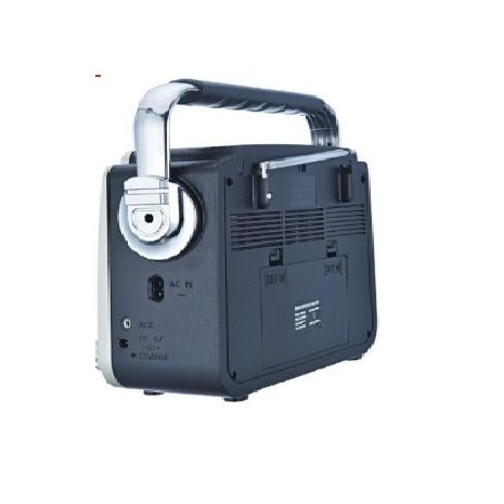 Transistor receiver with USB-input, memory card, MP3, Bluetooth. Powered by electricity, internal batteries and conventional batteries Kemai MD-1701BT