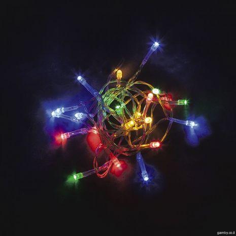 אור רציף רב צבעוני  פועל עם כוח אוטונומי (סוללות) של 7 מטרים
