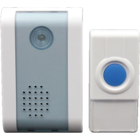 Wireless doorbell with 32 battery-powered and electrical outlets .